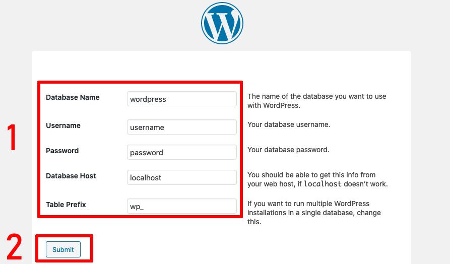 wordpress configuration image