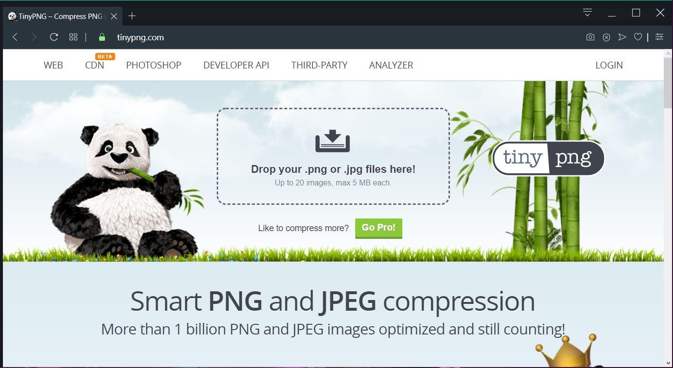 tinypng online image compressor image