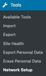 network setup section image