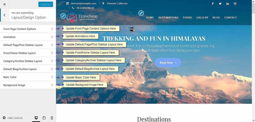 travel way design options image