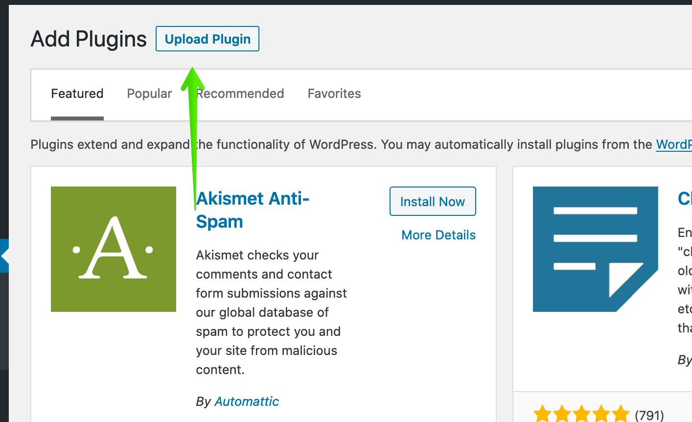 install WordPress plugins image