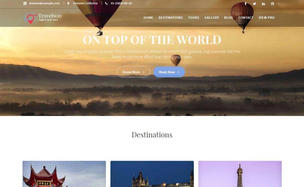 Travel Way WordPress Theme 2.0.2 Review image