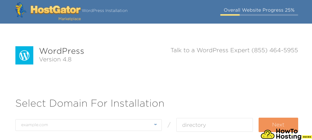 install wordpress and add doamin