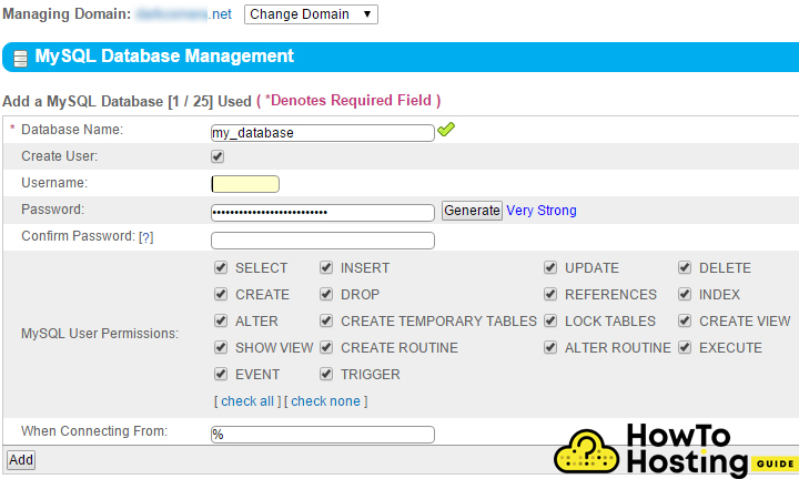 databas setup image