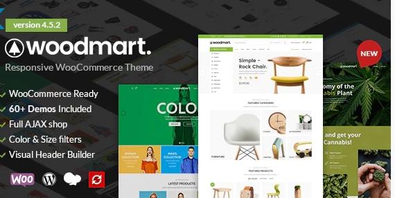 WoodMart WordPress theme image