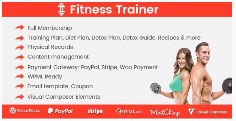 Fitness Trainer - Training Membership Plugin image