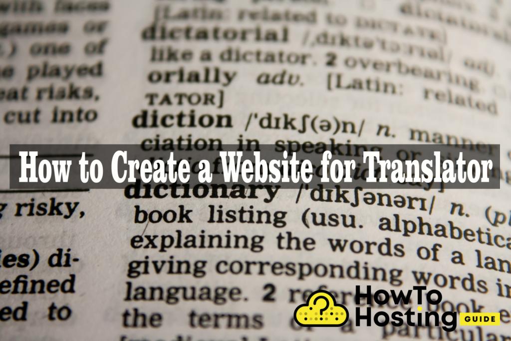 Create website for Translator article image