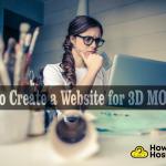 create a unique website for 3D modeler