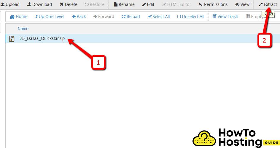 joomla upload and extract package image