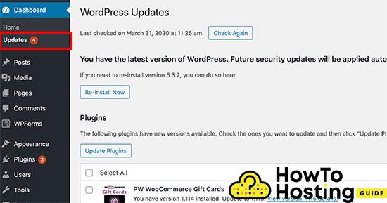 wordpress updates image