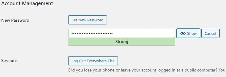 set a new password in-wordpress