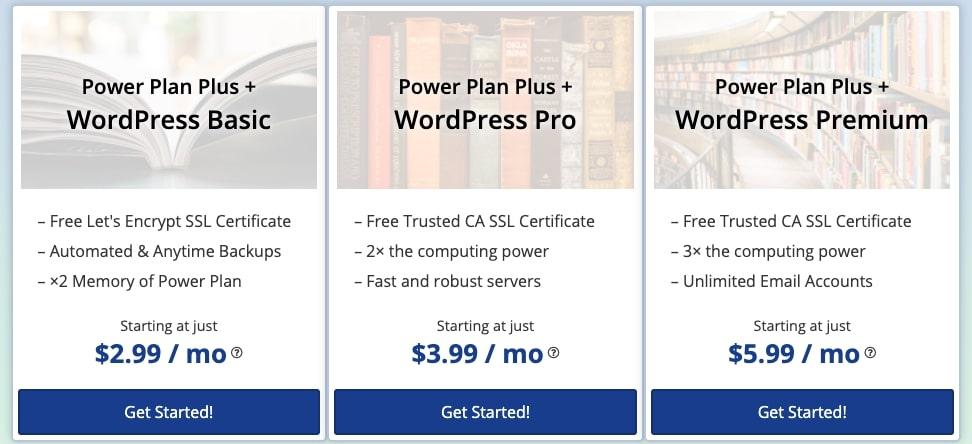 webhostingpad - WordPress hosting